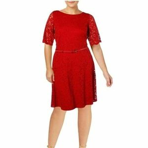 Charter Club 1X Ravishing Red A-Line Dress 11F38
